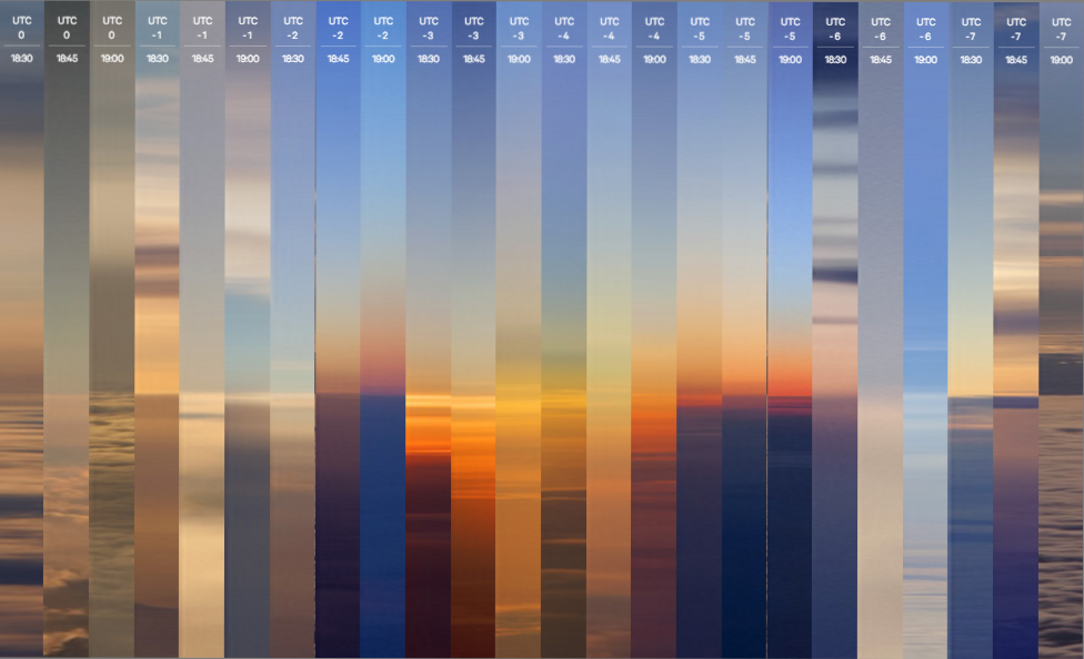 Photographer chases the sun in a plane to shoot 24 sunsets in one day