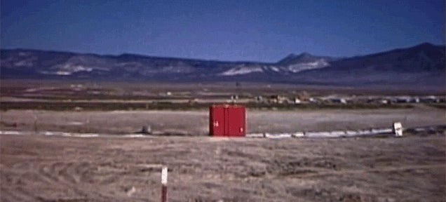 Watch an Underground Nuclear Explosion Melt the Ground into a Giant Crater