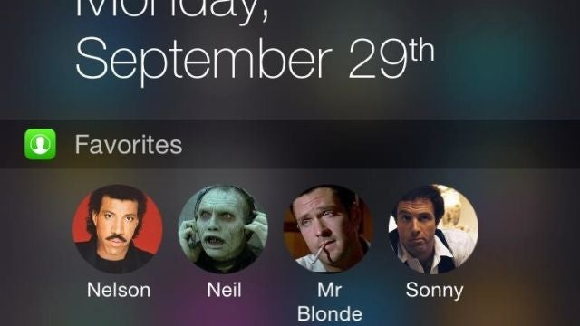 Favourites Widget Adds Favourite Contacts to iOS 8 Today Screen