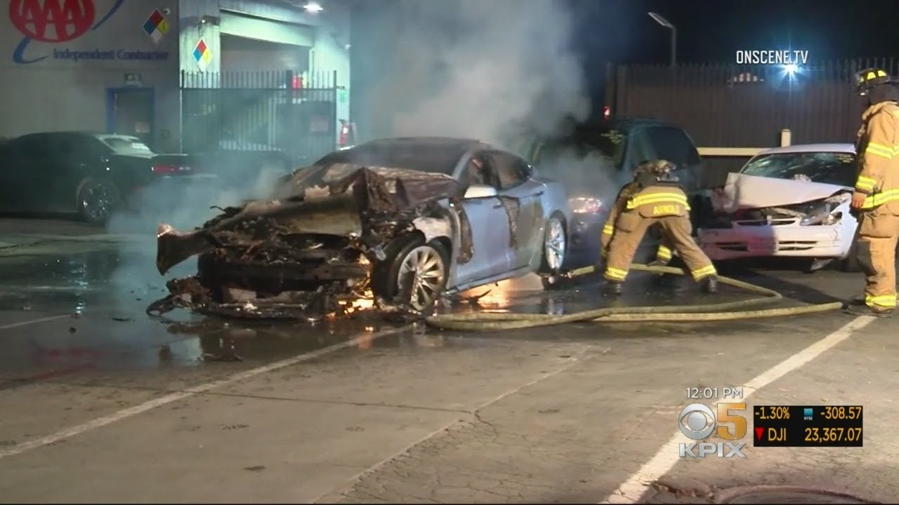 Tesla Model S Catches Fire Twice In One Day
