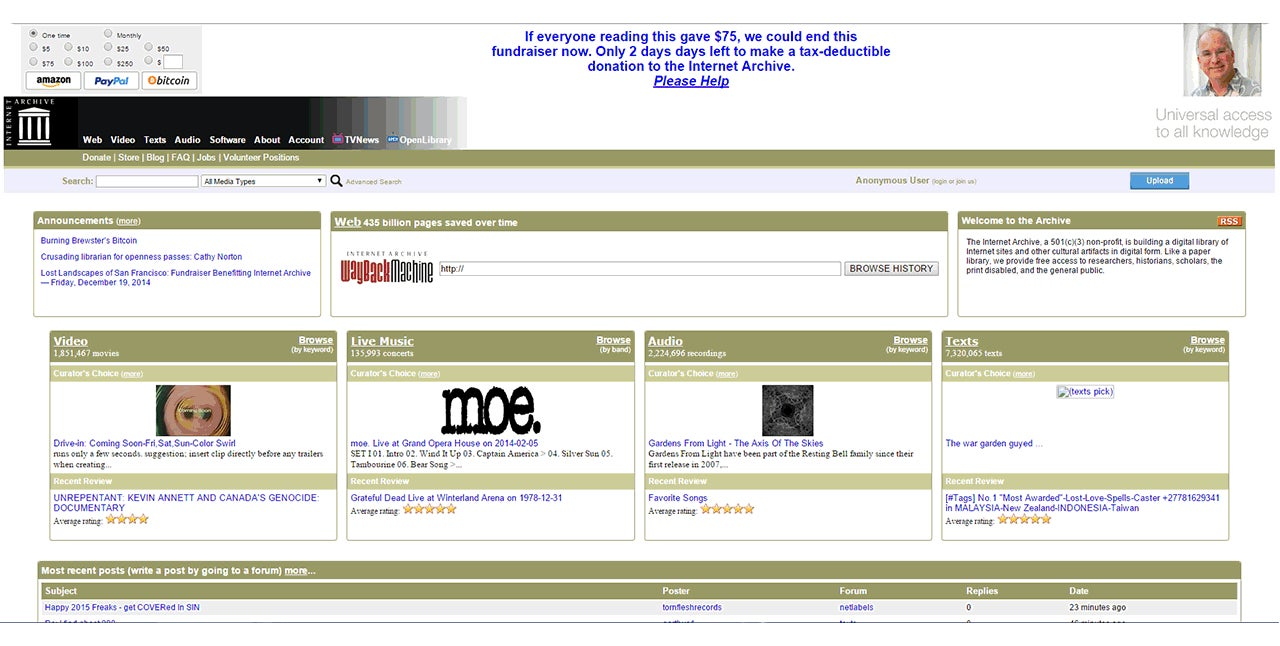 The Internet Archive Has Grown Up With A Gorgeous New Design