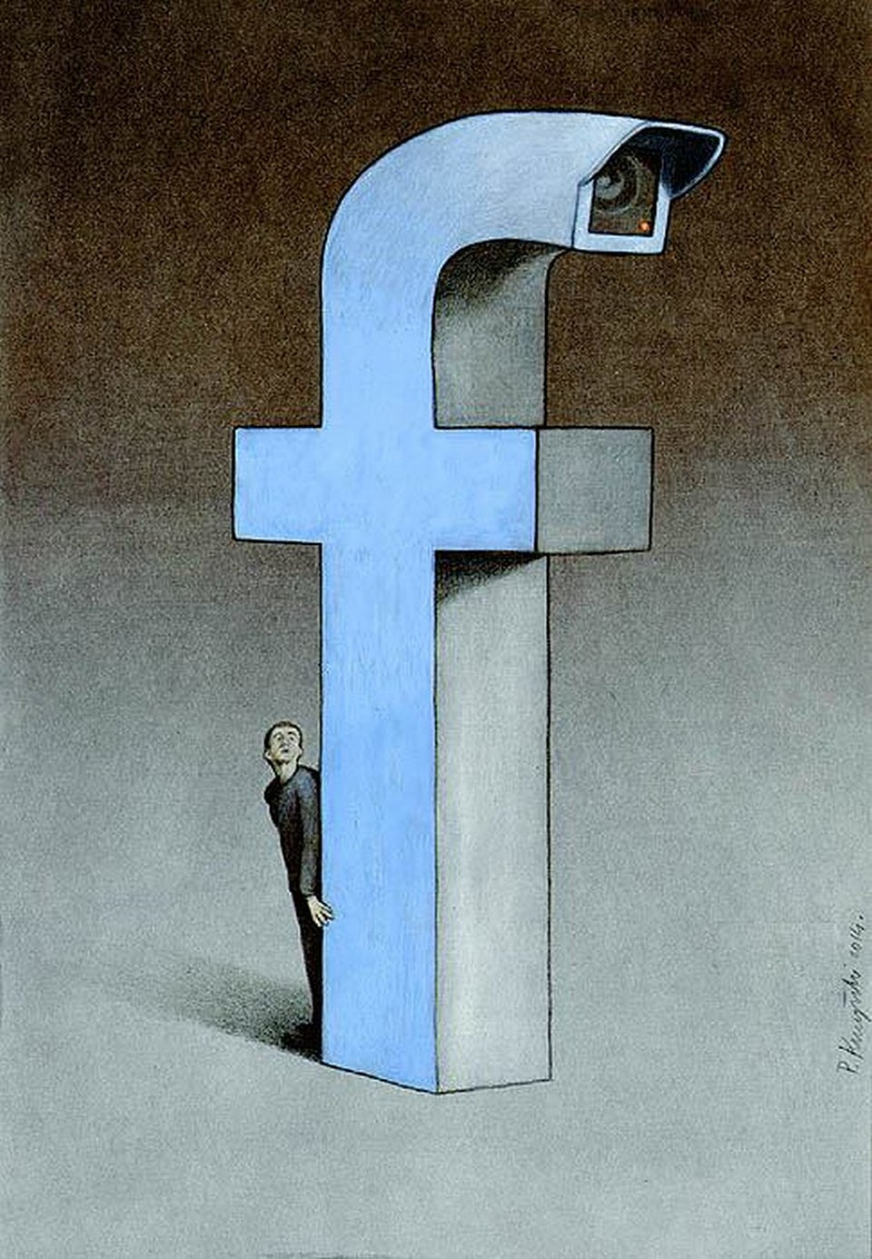 These illustrations perfectly make fun of our obsession with Facebook