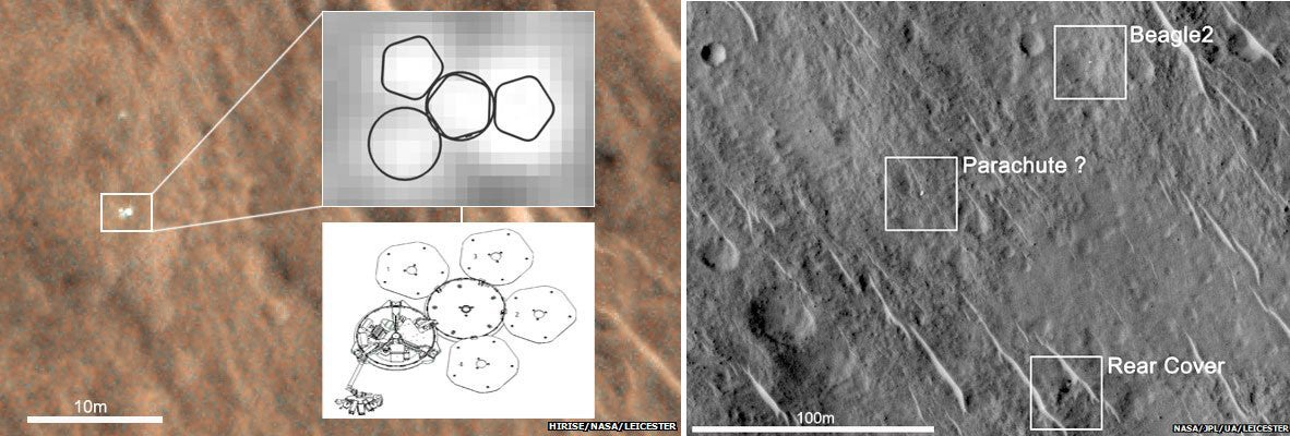 Lost Beagle Lander Found Seemingly Intact on Mars, Failure Cause Unknown
