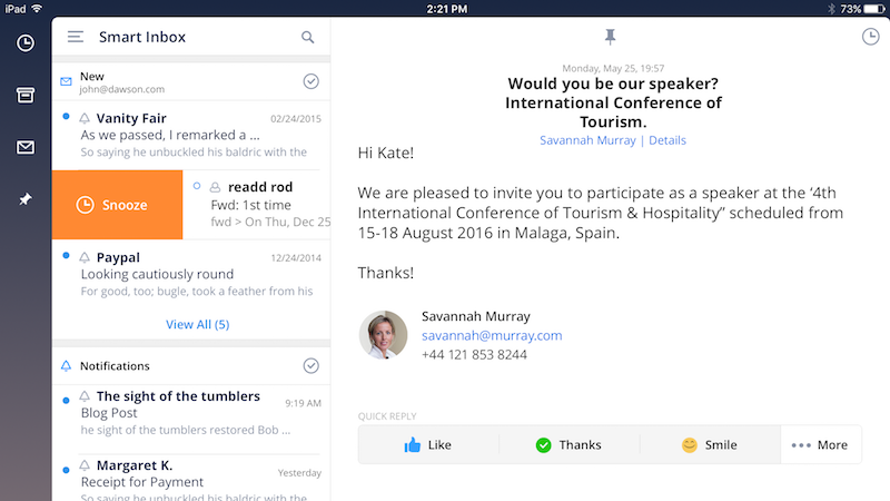 Spark Arrives on iPad, Gets New Colour Options on iPhone