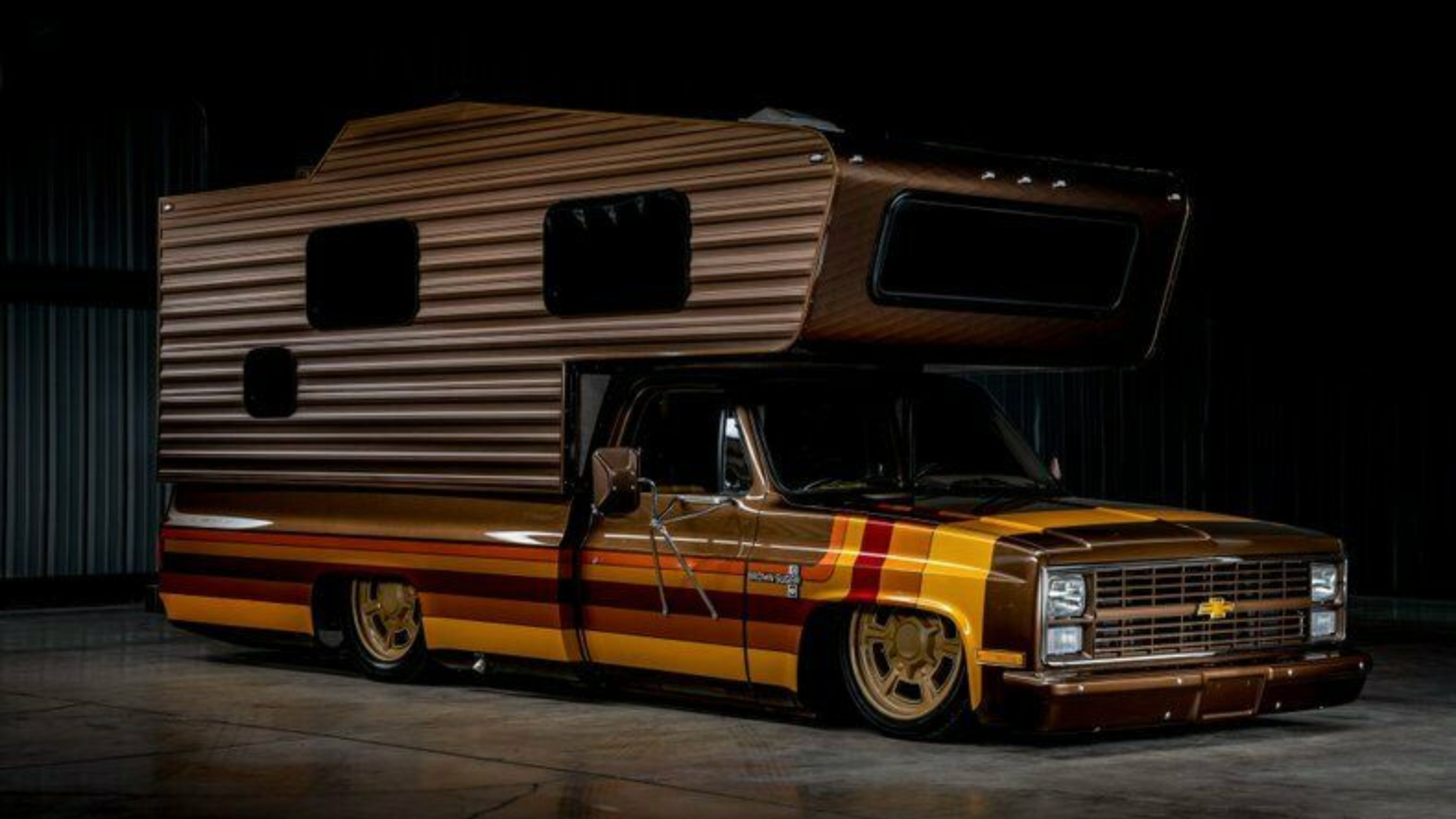 This Custom Retro Chevy Camper Is The Most Brown