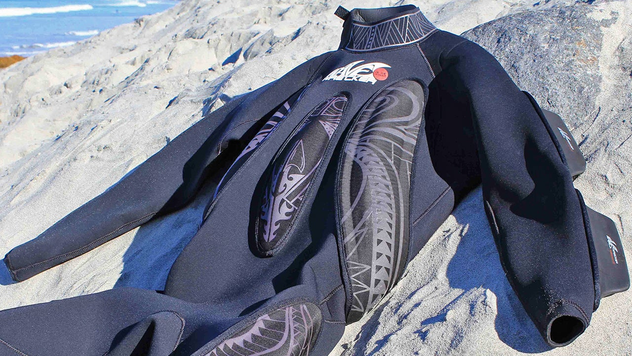 The Foam Fins Covering This Wetsuit Let You Body Surf Without a Board