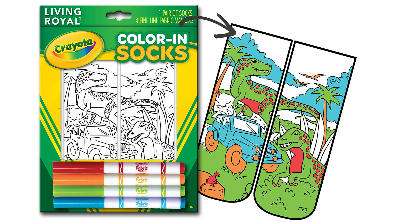 Crayola's Colour-In Socks Will Always Perfectly Match Your Outfit