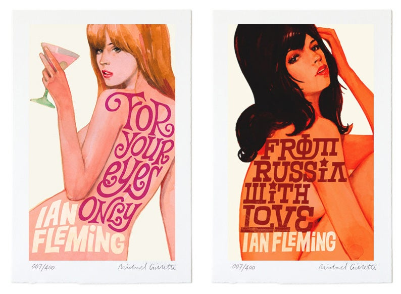 Bond Girls transformed into gorgeous Bond novels titles