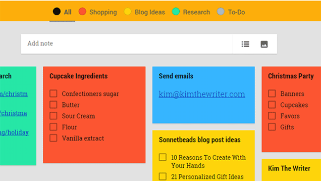 Category Tabs for Google Keep Makes Organising Your Notes Easy