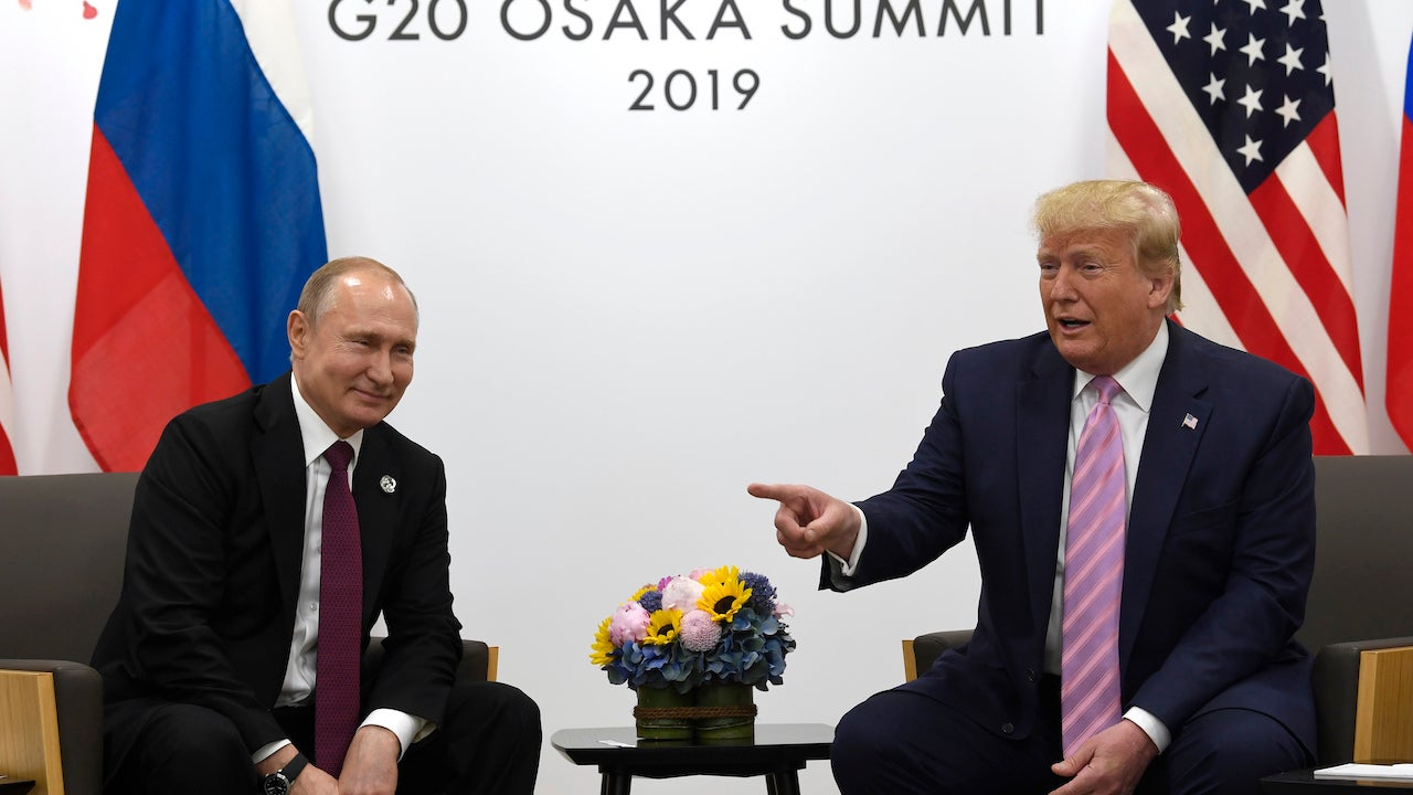 President Trump Jokes With Smiling Vladimir Putin About Meddling In U.S. Elections