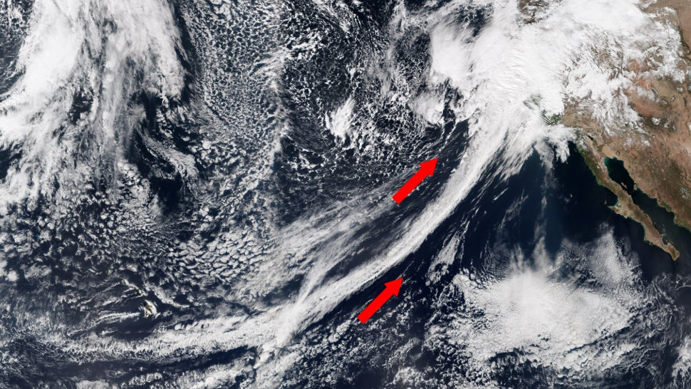 Dramatic Satellite Photo Shows An 'Atmospheric River' Drenching California