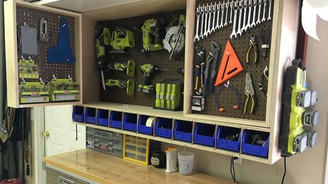 bo garage need a space for tools ideas - Make A Fold Out Space Saving Tool Storage Cabinet For