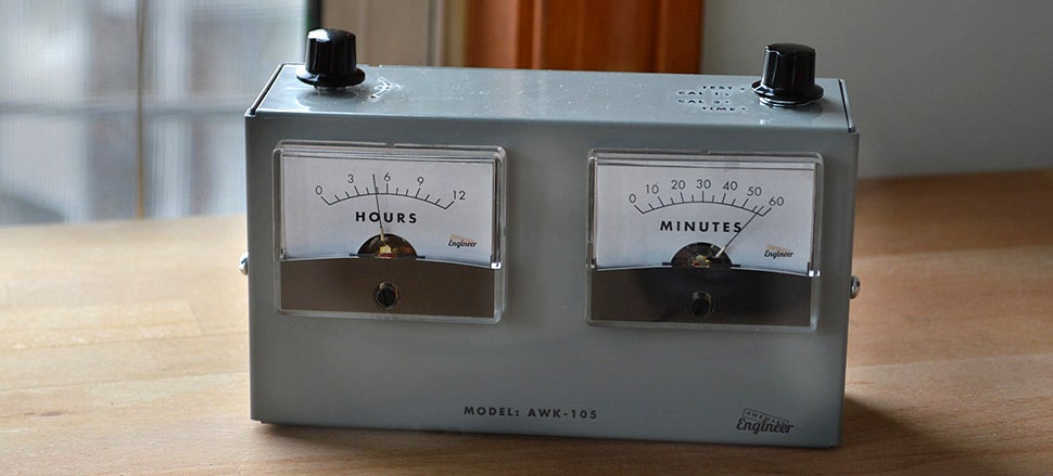 A Retro Analogue Voltmeter Clock Perfect For a Mad Scientist's Lab