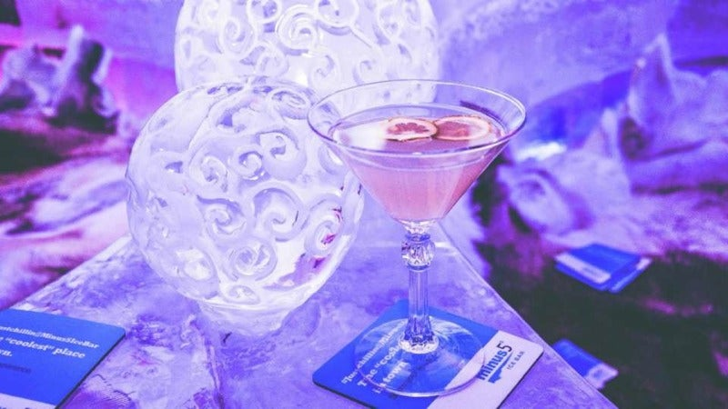 How the World's Most Glamorous Ice Bar Stays Frozen In the Middle of the Desert