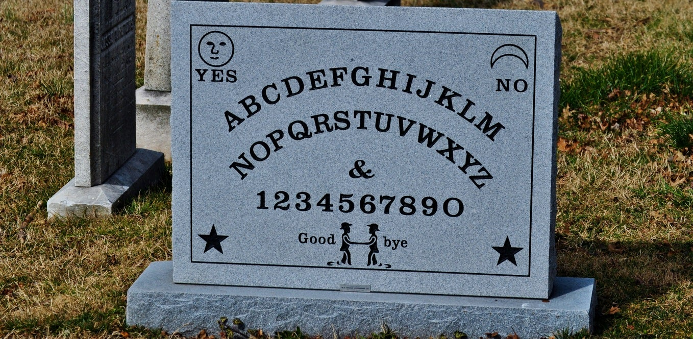 The Guy Who Patented The Ouija Board Has A Oujia Board Gravestone