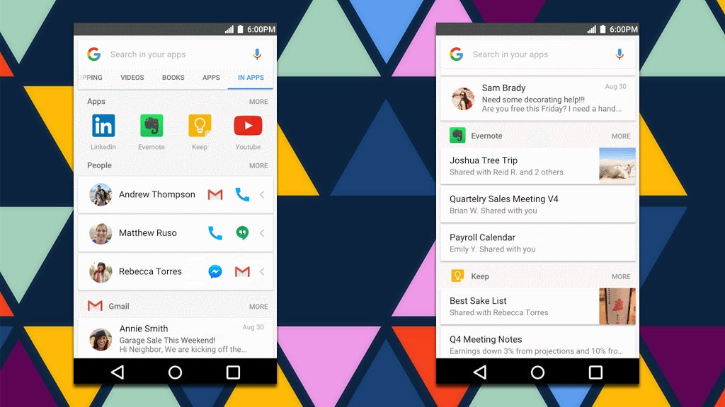 Google Will Now Let You Search Inside Your Apps From The Search Bar
