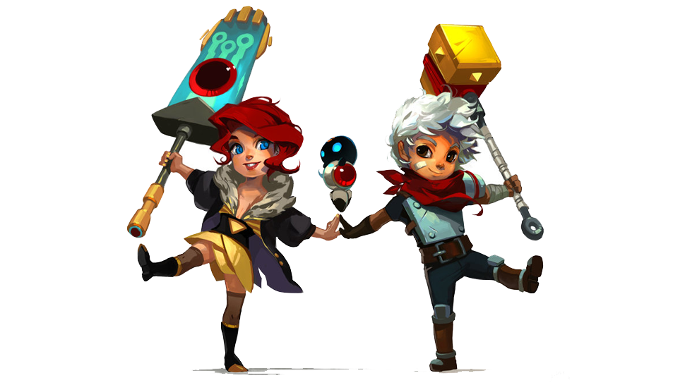 Transistor's 'Red' And 'the Kid' From Bastion, Hand In Hand