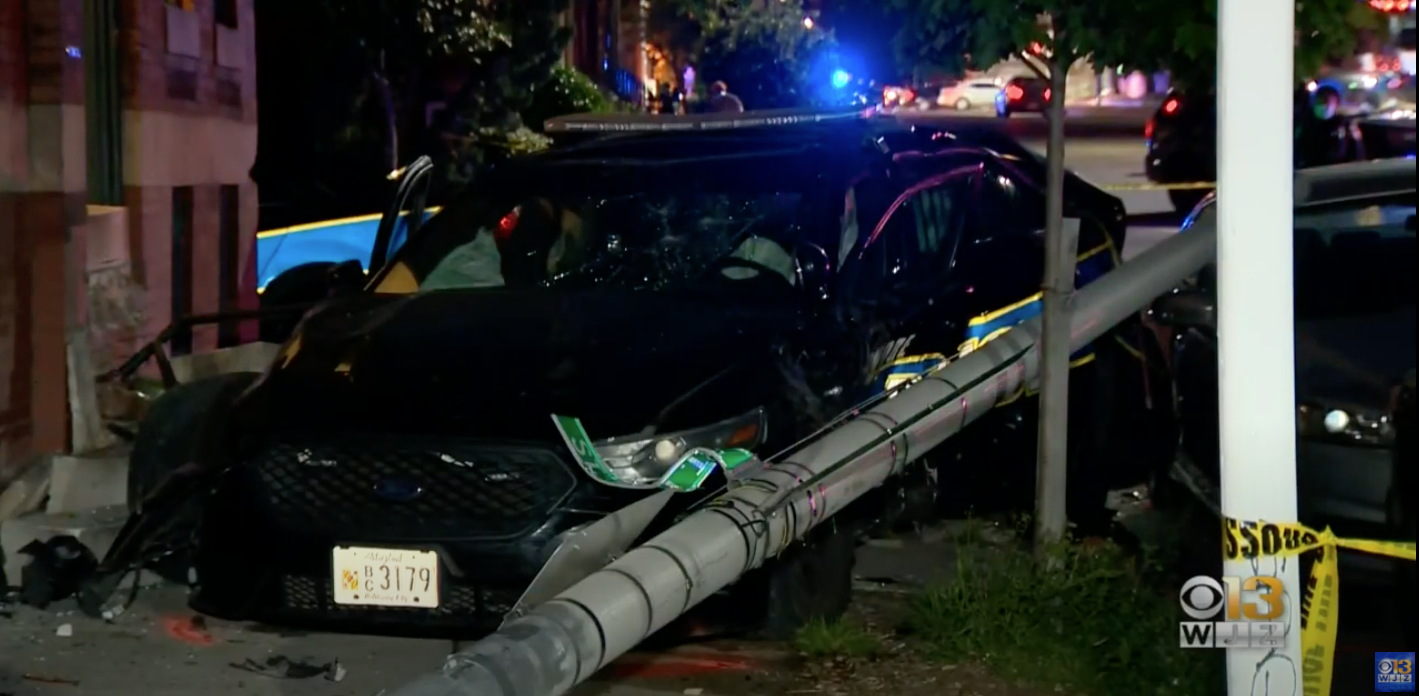 Two Baltimore Cop Cars Crash Into Each Other For Some Reason