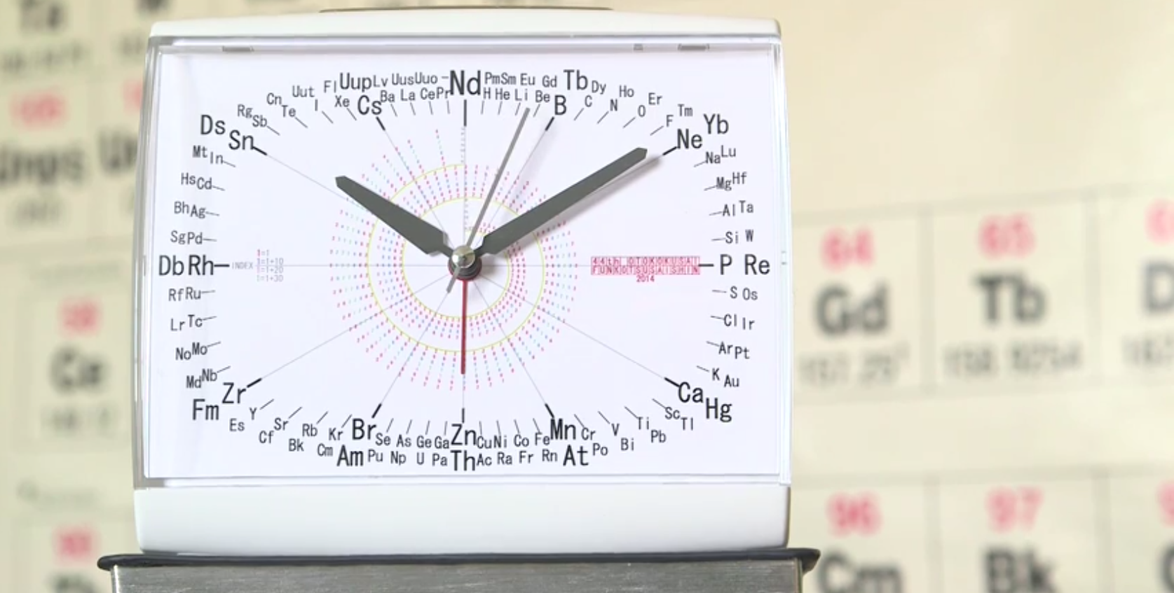 Periodic table alarm clock lets you see atomic numbers at a glance