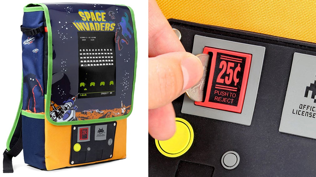 Brilliant Space Invaders Pack Straps A Miniature Arcade Cabinet To Your Back