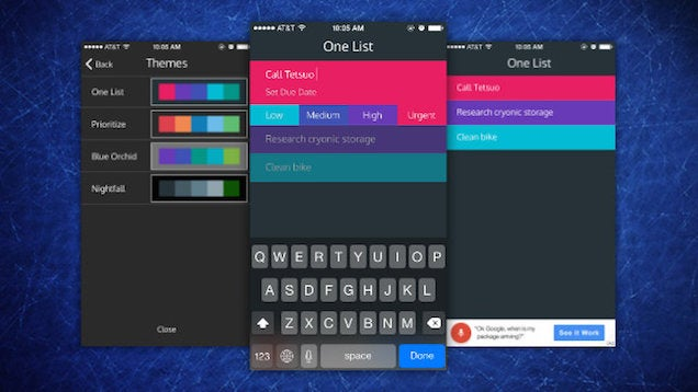 One List Is a Simplified, Colourful To-Do List for iOS