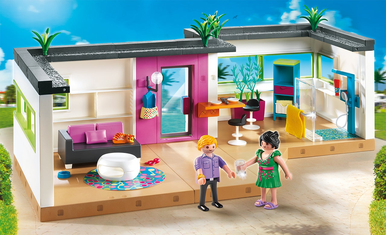 It 39 s ok to be jealous of playmobil 39 s new ultra modern for Salle bain playmobil