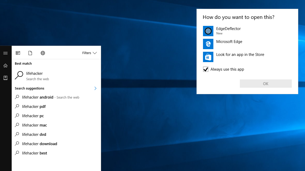 EdgeDeflector Forces Cortana To Use Your Default Web Browser