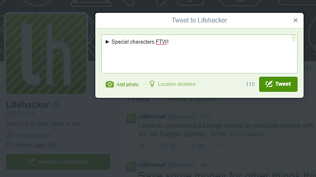 Use Special Characters To Make Your Tweets Stand Out