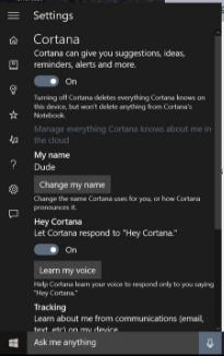can i turn off cortana in windows 10