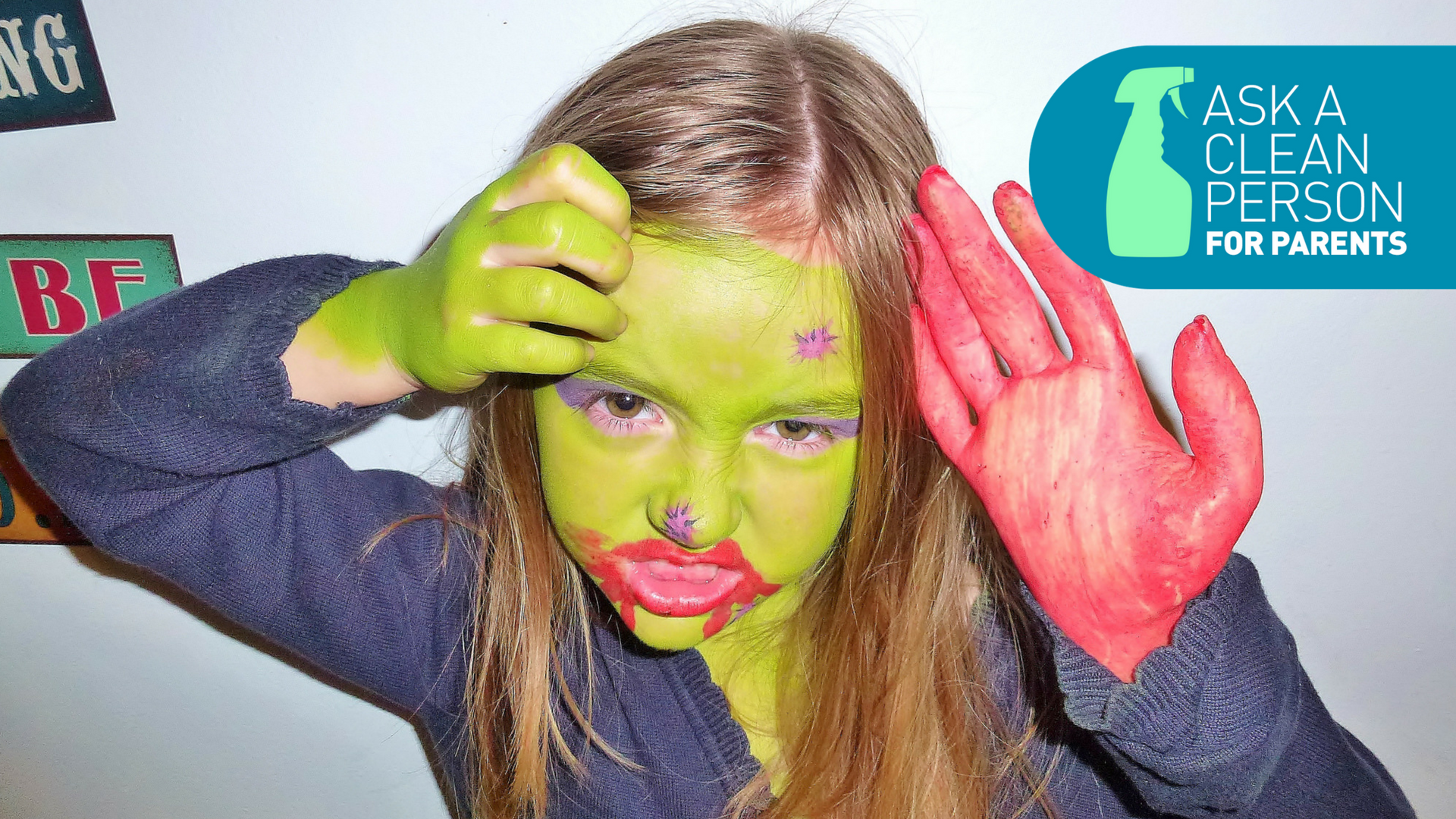 Post-Halloween Cleanup: Glitter, Face Paint And Fake Blood