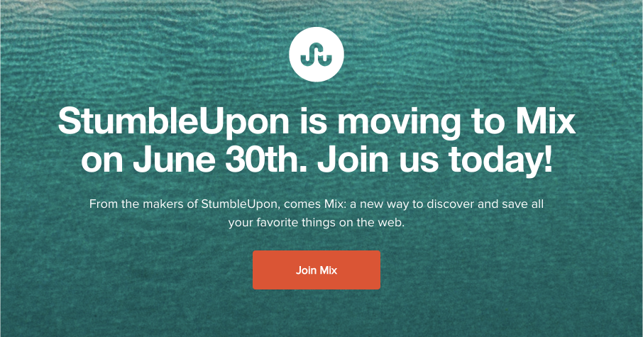 Guess I Didn't Click On That StumbleUpon Button Enough, Because The Site Is Dead