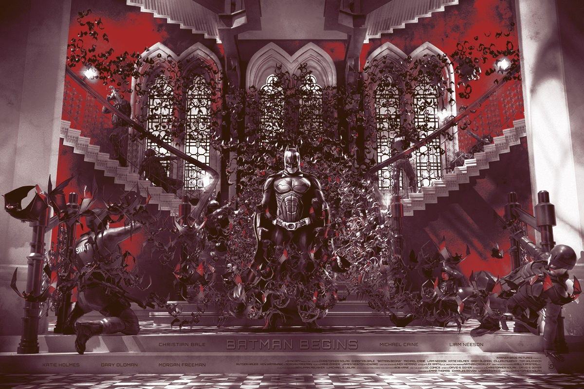 The Best Scene In Batman Begins Comes To Life In An Impressive Group Art Show