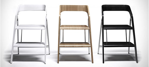 This Sleek Chair Doubles as a Sensible Stepladder
