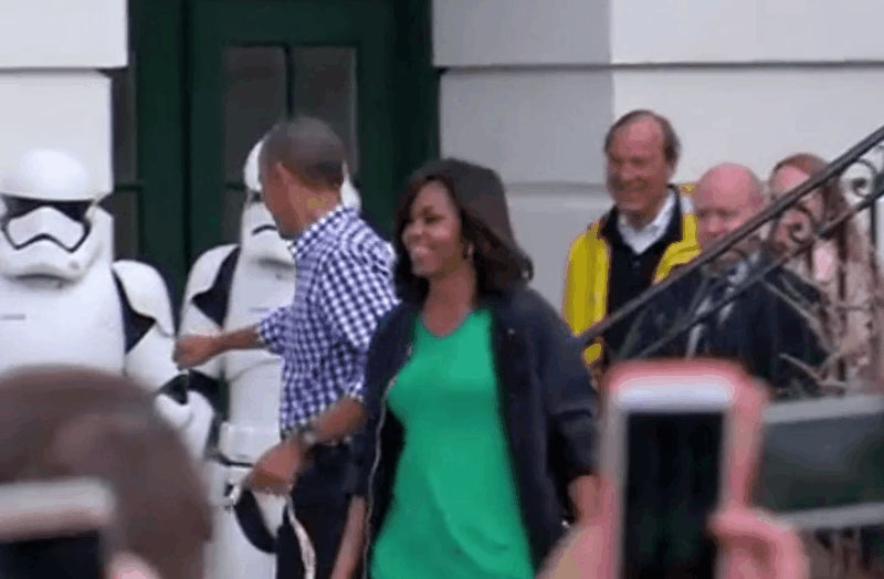 Obama Keeps Inviting Star Wars Stormtroopers to The White House