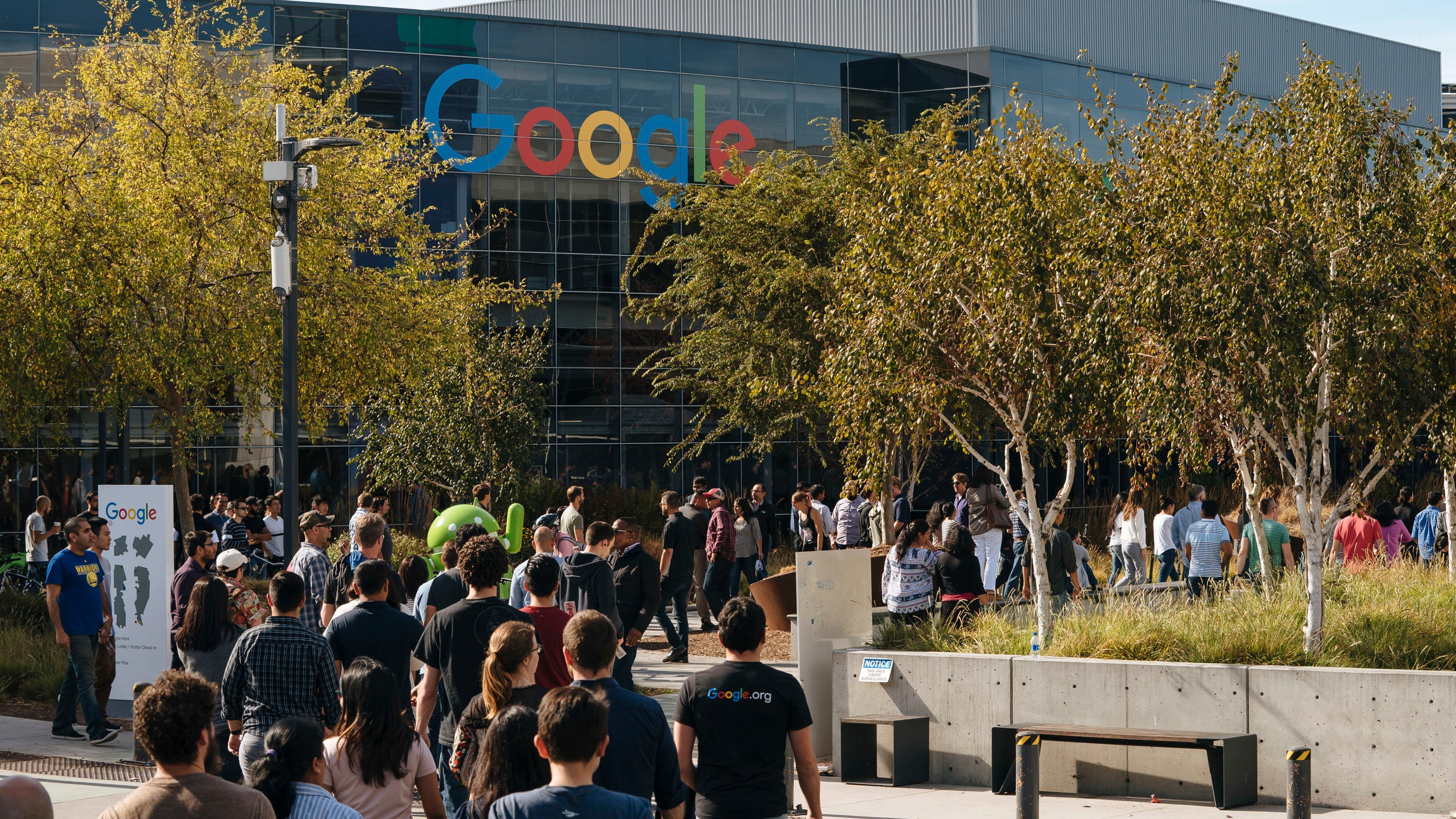 Google Workers Protest Alleged Company Retaliation Six Months After Massive Walkout