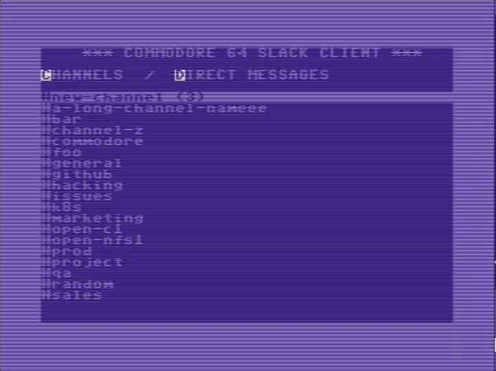 Slack client for Commodore 64 uses Raspberry Pi to connect