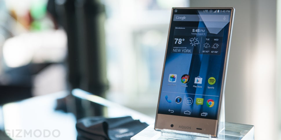 Sharp Aquos Crystal Hands-On: No Bezel, All Beauty | Gizmodo