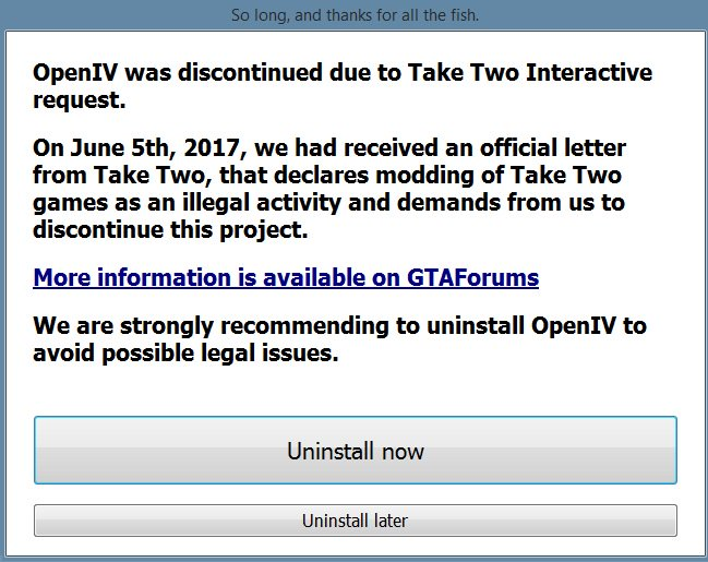 GTA modding tool OpenIV downed by cease and desist notification