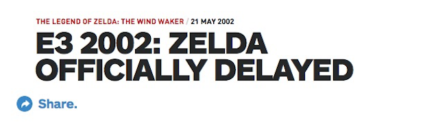 Reminder: Nintendo Is Always Delaying Major Zelda Games