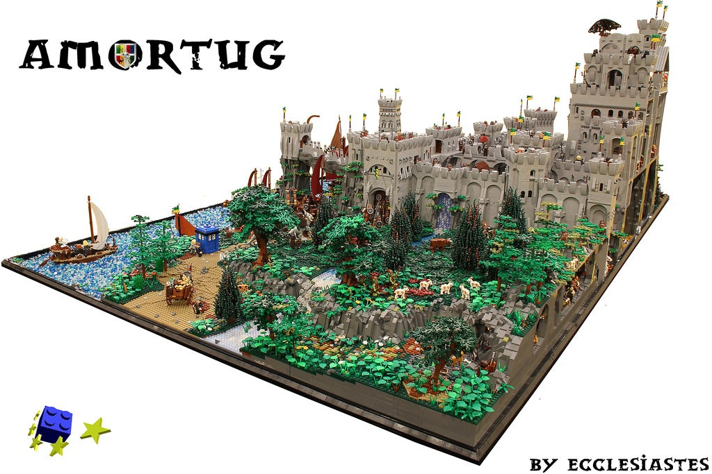 Thats How You Build A Giant LEGO Castle Kotaku Australia