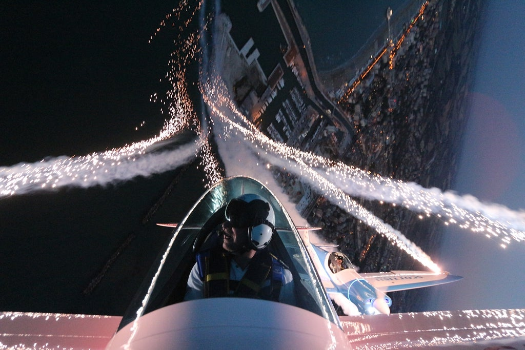 Spectacular images of the world's first pyrotechnic air acrobatic team