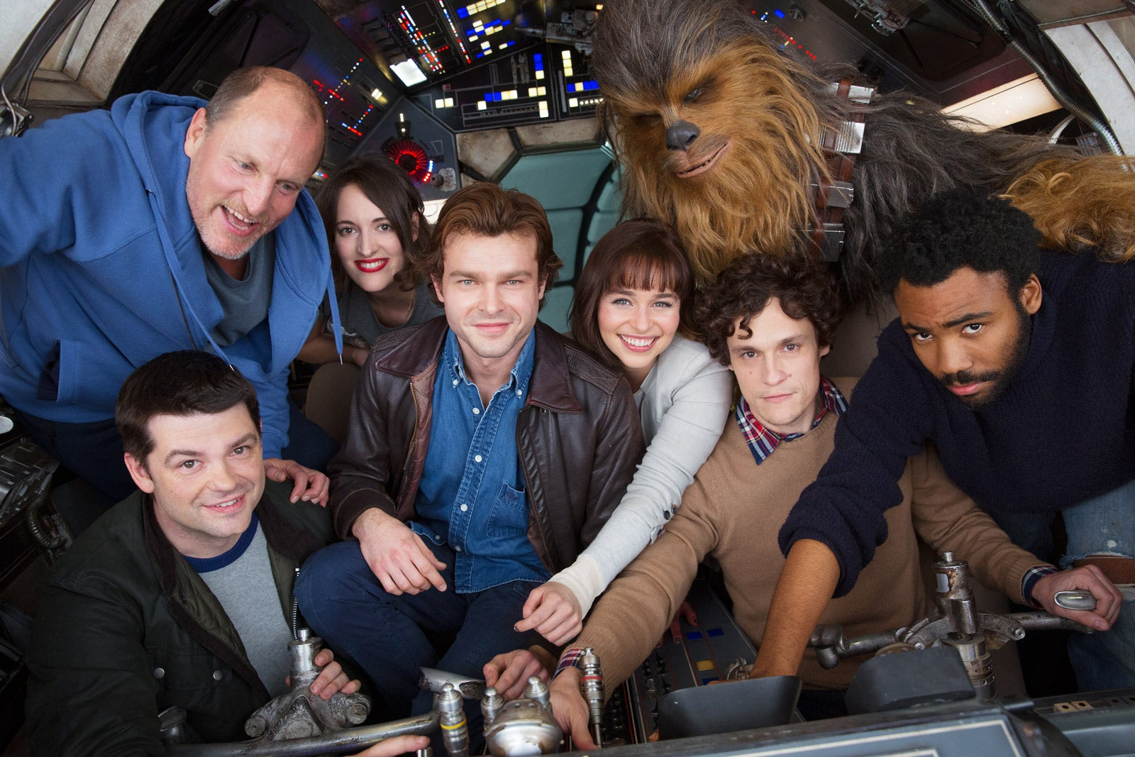 The Millennium Falcon Is Packed In The First Cast Photo From The Han Solo Movie