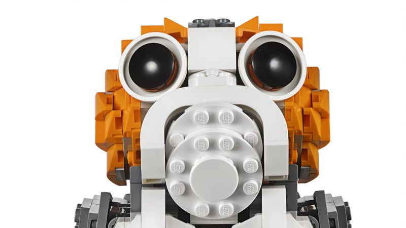 Just Look At This Life-Sized LEGO Porg