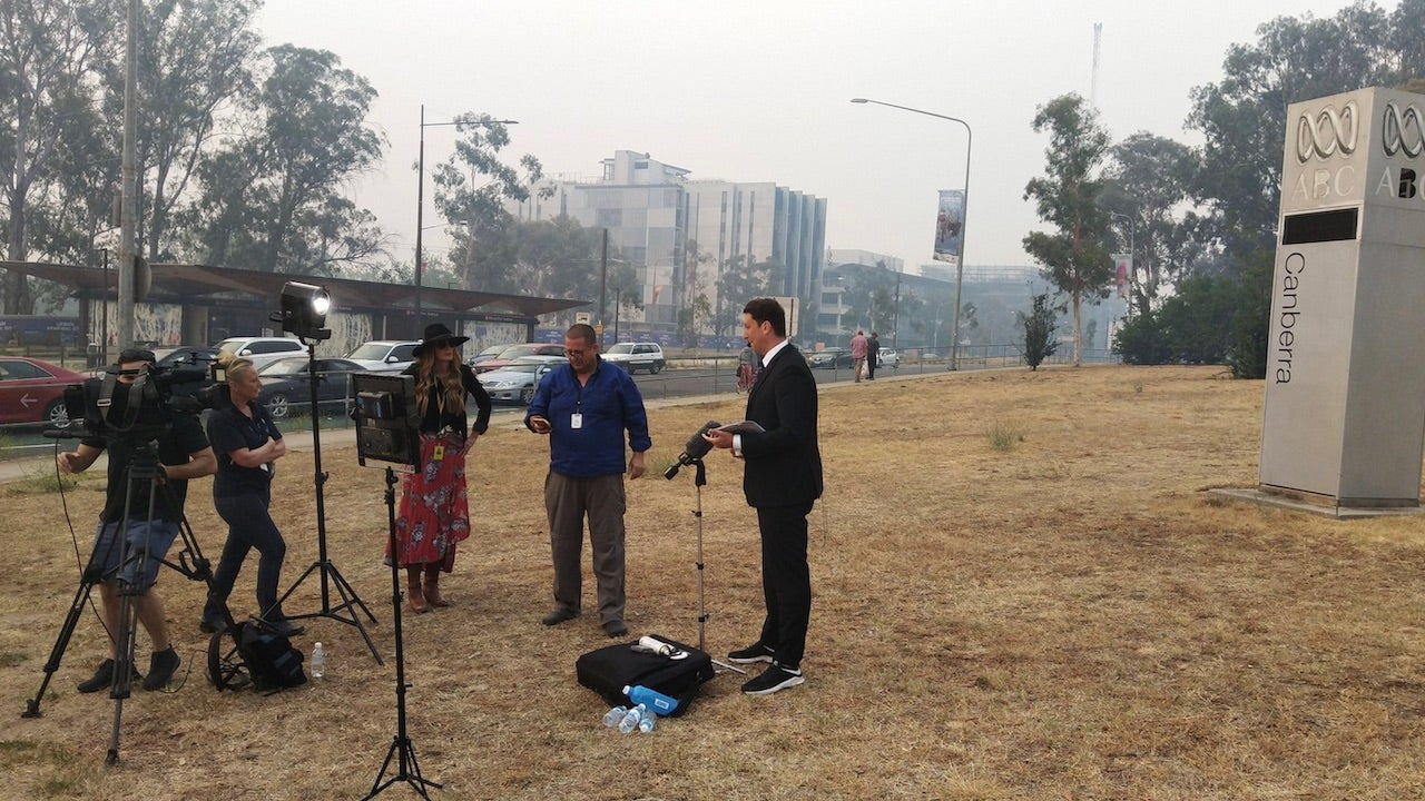Australian Journalists Forced To Broadcast Outside After Bushfire Smoke Triggers Fire Alarm Inside TV Studio