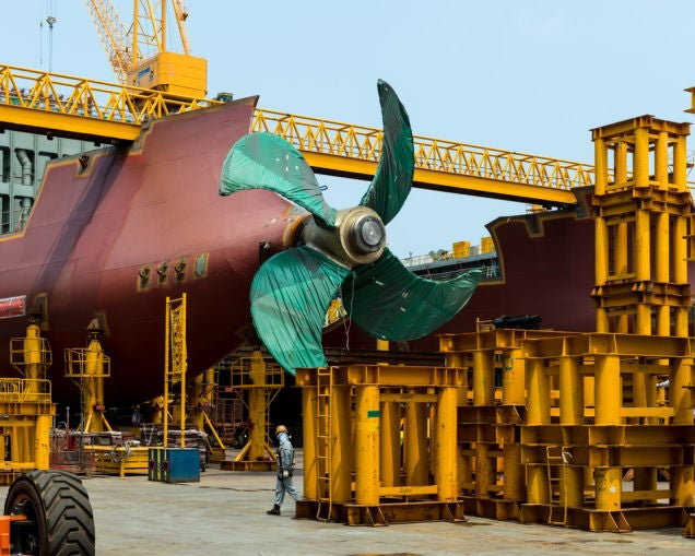 Pictures of the World's Biggest Cargo Ship Make You Feel Tiny