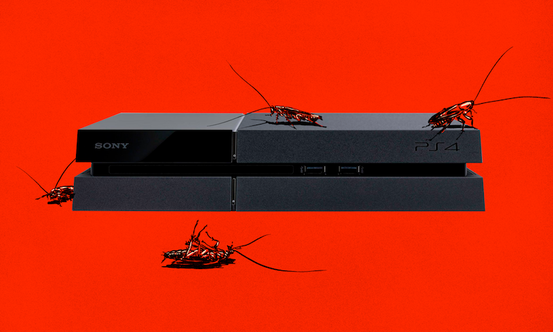 PlayStation 4 consoles may attract roaches, repairmen say