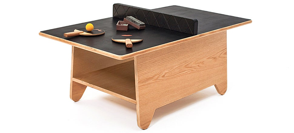 Coffee Table Ping-Pong Is More Entertaining Than A Stack Of Magazines