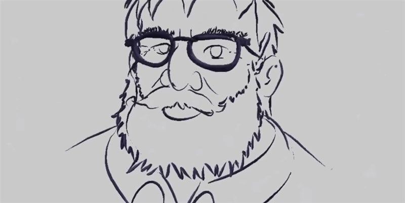 A 3D Sketch Of Gabe Newell, Made In VR