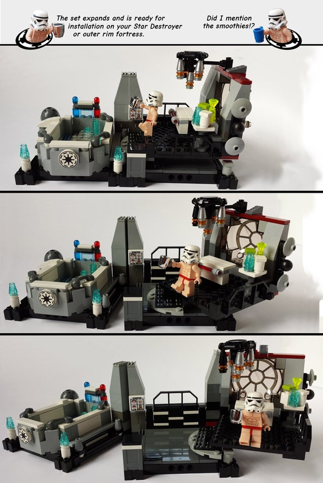 Star Wars Imperial Hot Tub Should Be An Official LEGO Set