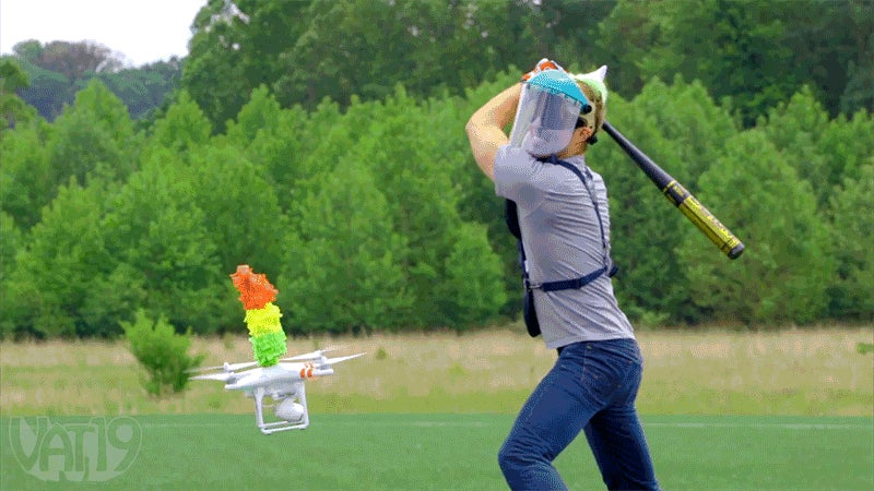 Putting a Piñata on a Flying Drone Seemed Like a Good Idea at First
